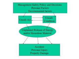 Management Safety Policy and Decisions  Personal Factors Environmental factors