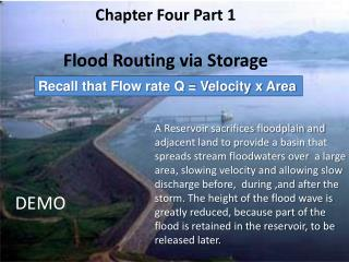 Chapter Four Part 1 Flood Routing via Storage