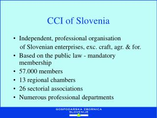 CCI  of Slovenia