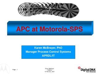 APC at Motorola-SPS