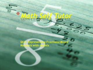 Math Self Tutor