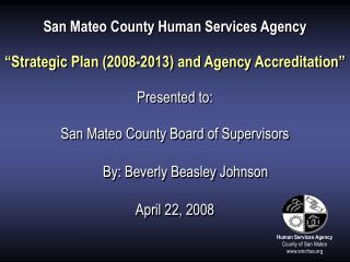 Human Services Agency County of San Mateo smchsa