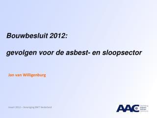 Bouwbesluit 2012: gevolgen voor de asbest- en sloopsector