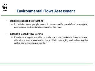Environmental Flows Assessment