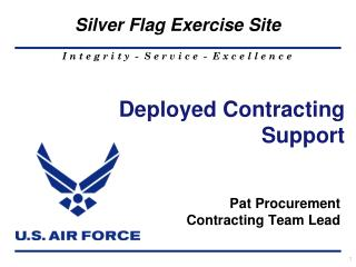 Deployed Contracting Support