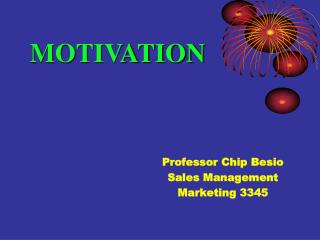 Professor Chip Besio Sales Management Marketing 3345
