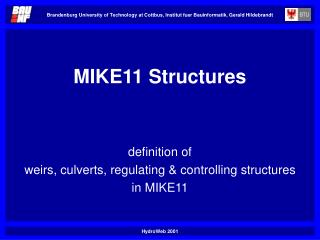 MIKE11 Structures
