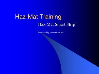 Haz-Mat Training