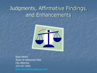 Judgments, Affirmative Findings, and Enhancements