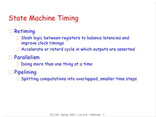 State Machine Timing