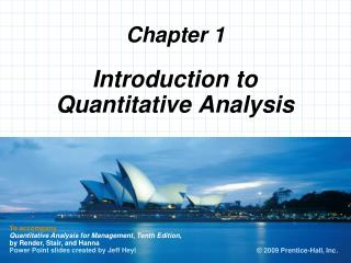 Introduction to Quantitative Analysis