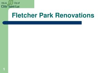 Fletcher Park Renovations