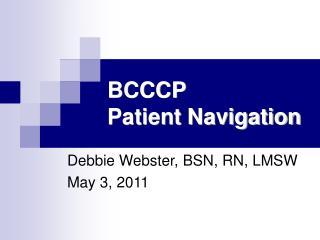 BCCCP Patient Navigation