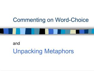 Commenting on Word-Choice