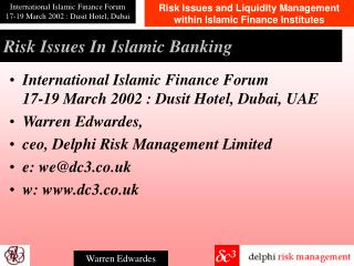 Risk Issues In Islamic Banking