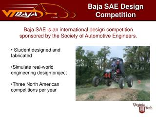 Baja SAE Design Competition