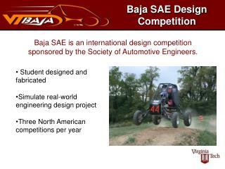 Baja SAE Design Competition