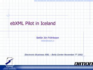 EbXML Pilot in Iceland