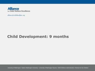 Child Development: 9 months