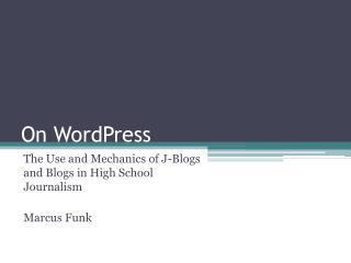On WordPress