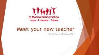 Meet your new teacher