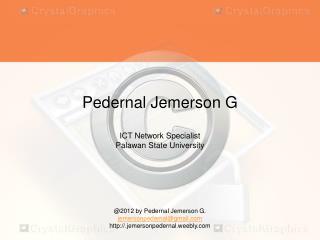 Pedernal Jemerson  G ICT Network Specialist  Palawan  State University
