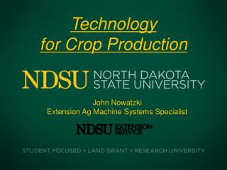 Technology  for Crop Production