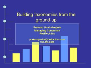 Building taxonomies from the ground-up