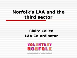 Norfolk's LAA and the third sector
