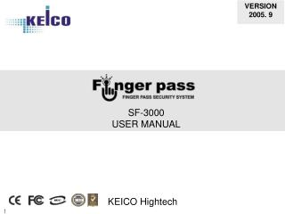 SF-3000 USER MANUAL