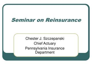 Seminar on Reinsurance