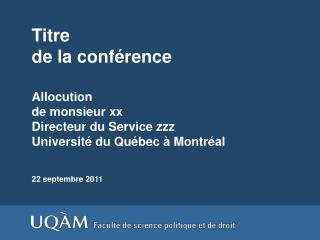 Titre  de la conférence
