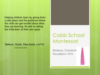 Cobb School Montessori