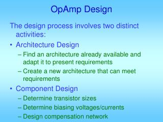 OpAmp Design