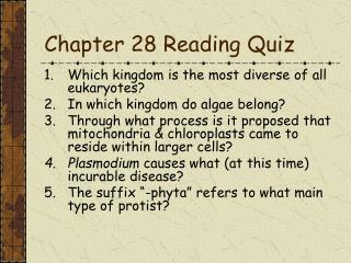 Chapter 28 Reading Quiz