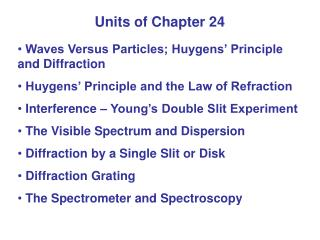 Units of Chapter 24