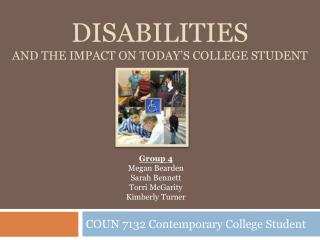 disabilities and the impact on today's college student