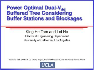 Power Optimal Dual-V dd  Buffered Tree Considering Buffer Stations and Blockages