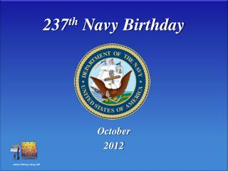 237 th  Navy Birthday