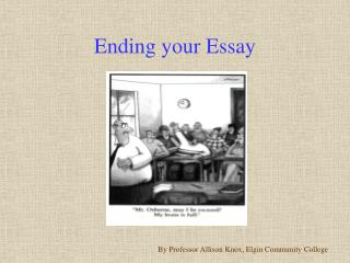 Ending your Essay