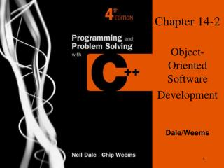 Chapter 14-2 Object-Oriented Software Development