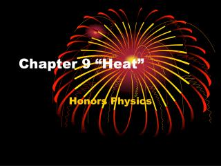 Chapter 9 �Heat�