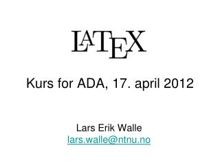 Kurs for ADA, 17. april 2012