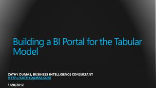 Building a BI Portal for the Tabular Model