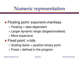 Numeric representation