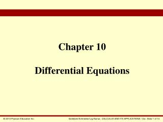 Chapter 10 Differential Equations