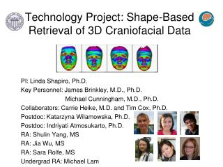 Technology Project: Shape-Based Retrieval of 3D Craniofacial Data