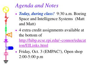 Agenda and Notes