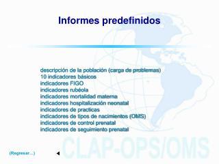 Informes predefinidos