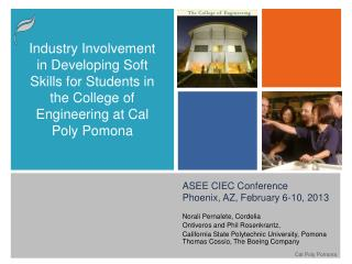 ASEE CIEC Conference Phoenix, AZ, February 6-10, 2013